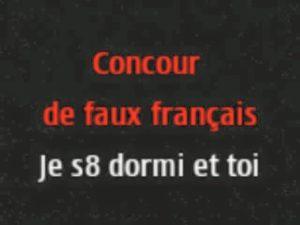 Concour de faux français!